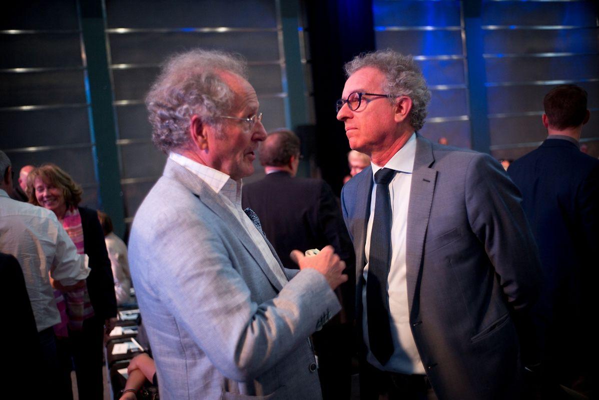 Finanzminister Pierre Gramegna zusammen mit Paul Helminger.