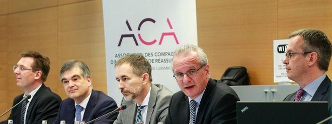 La conférence de présentation des résultats s'est tenue ce mardi matin. Au centre les trois membres du conseil d'administration présents: Claude Marx, Pit Hentgen et Marc Lauer.