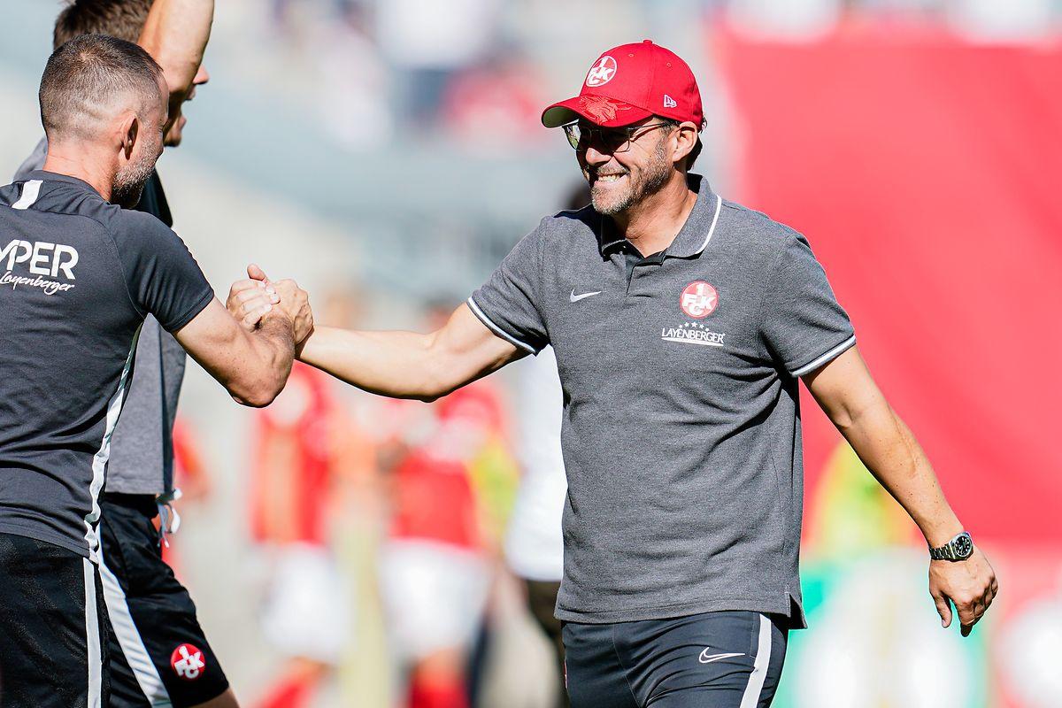 Kaiserslauterns Trainer Sascha Hildmann jubelt