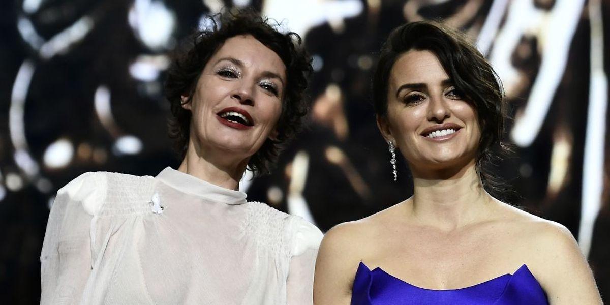 Die französische Schauspielerin Jeanne Balibar (l.) und die spanische Schauspielerin  Penelope Cruz wurden beide ausgezeichnet.