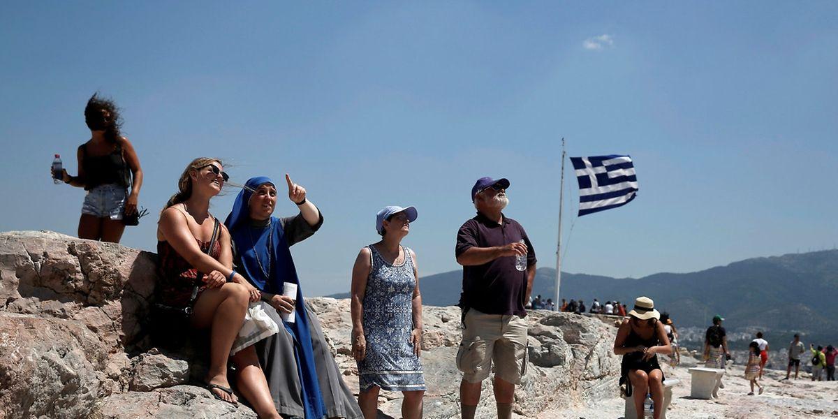 Auch an der Akropolis war es glühend heiß.