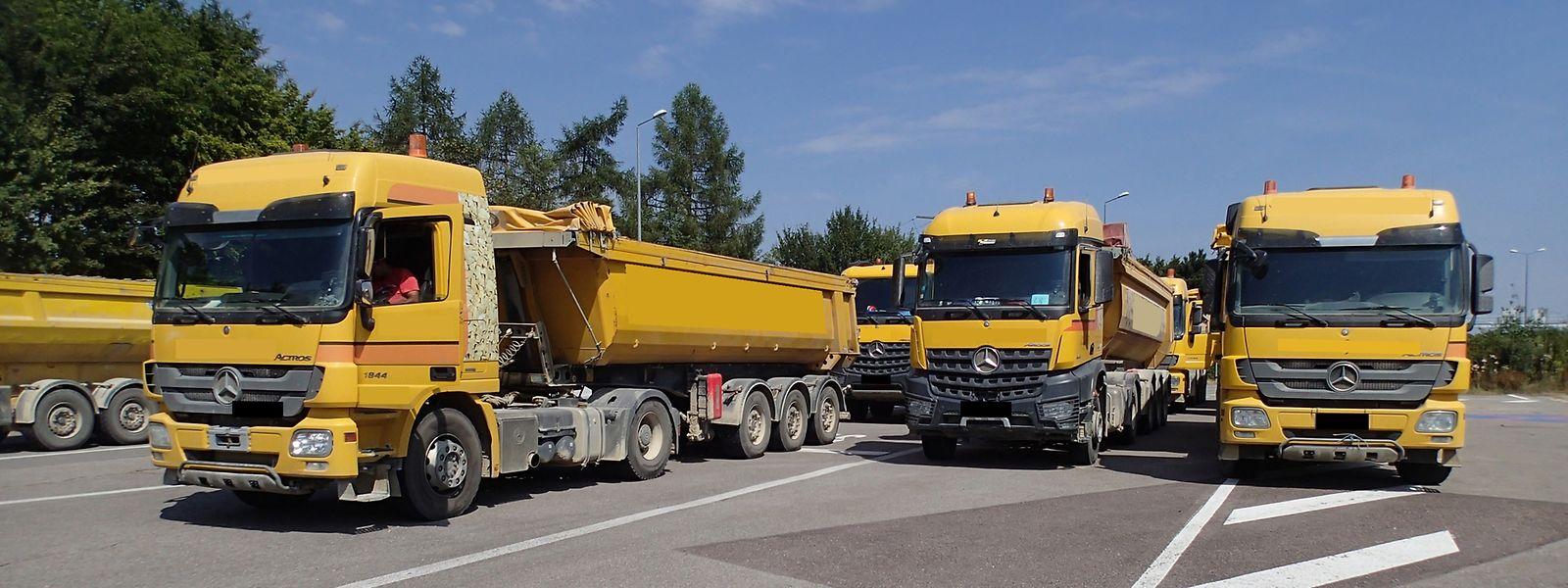 16 Lastwagen wurden kontrolliert, 18 Gesetzesverstöße festgestellt.