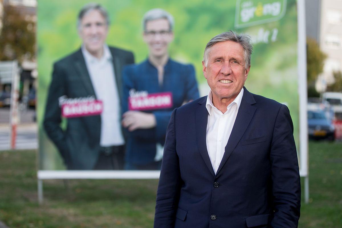 Spitzenkandidat François Bausch (Déi Gréng) ist nicht angetreten, um Premier zu werden.