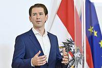 07.09.2020, Österreich, Wien: Sebastian Kurz (ÖVP), Bundeskanzler, spricht anlässlich eines Runden Tisches zum Thema Alterseinsamkeit. Foto: Hans Punz/APA/dpa +++ dpa-Bildfunk +++