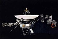 """(FILES) This NASA file image obtained August 9, 2002 shows one of the two Voyager spacecraft. More than 35 years after it launched on a mission to explore the cosmos, NASA's unmanned Voyager spacecraft appears to have left the solar system and is in a """"new region"""" of space, said a study March 20, 2013. If confirmed, the mission would mark the first man-made object ever to venture so far. The Voyager 1 """"appears to have traveled beyond the influence of the Sun and exited the heliosphere,"""" or the magnetic bubble of charged particles that surround the solar system, said a statement on the American Geophysical Union's web site.    AFP PHOTO/NASA / FILES        = RESTRICTED TO EDITORIAL USE - MANDATORY CREDIT """" AFP PHOTO / NASA  """" - NO MARKETING NO ADVERTISING CAMPAIGNS - DISTRIBUTED AS A SERVICE TO CLIENTS ="""