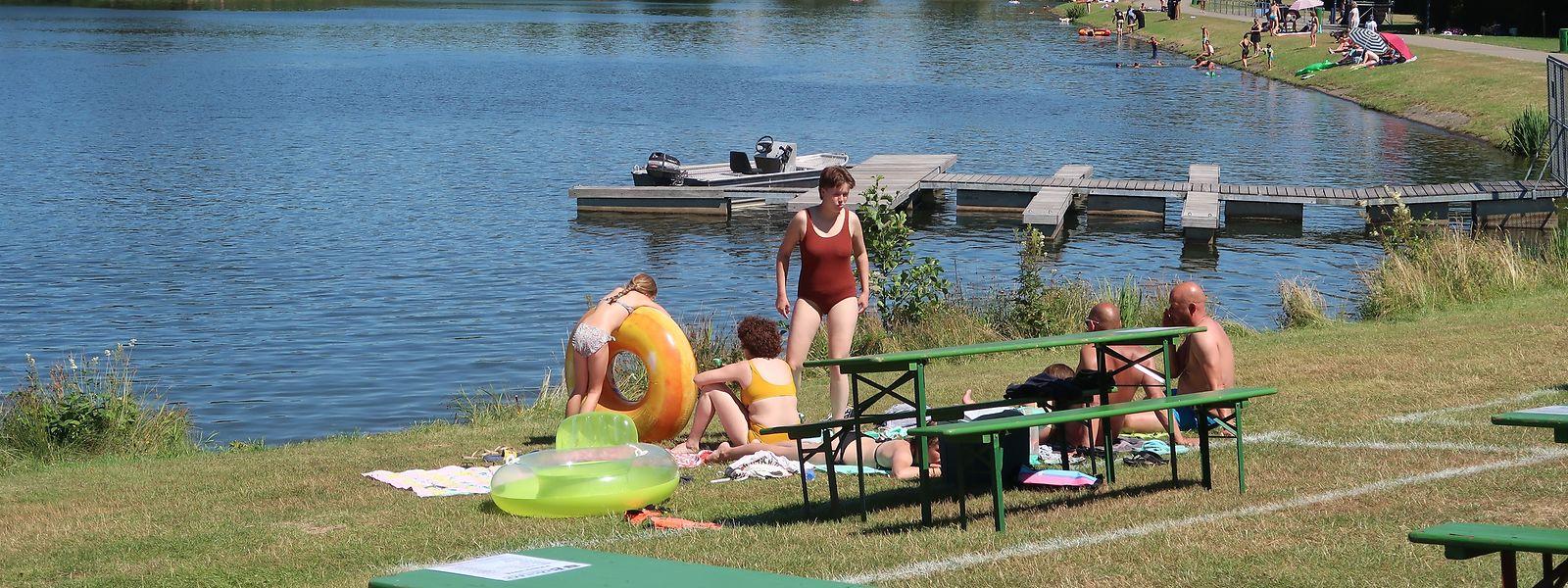 In Weiswampach ist einer der beiden Seen zum Baden freigegeben.