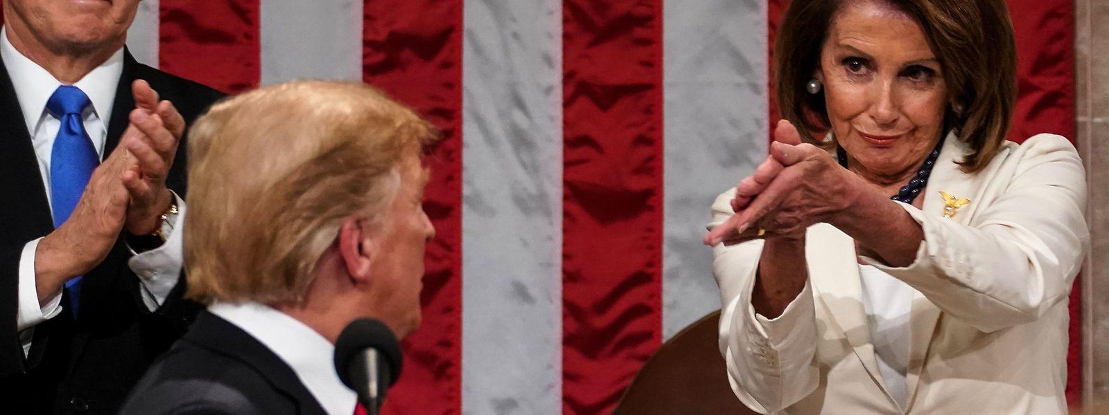 Donald Trump ist auf die Unterstützung von Nancy Pelosis demokratischen Parteikollegen angewiesen.