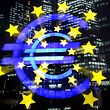** FILE ** The Euro sculpture photographed with a zoom lens is seen in front of the European Central Bank in Frankfurt, central Germany, in this Nov. 30, 2005 file photo. The euro soared to a new high against the U.S. dollar on Tuesday July 10, 2007 , reaching US$1.3696 in afternoon trading in Europe before falling back slightly. (AP Photo/Michael Probst)