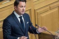 25.4.IPO / Xavier Bettel / Chamber / Etat de la Nation / Beginn der Rede / vor dem Abrruch Foto:Guy Jallay