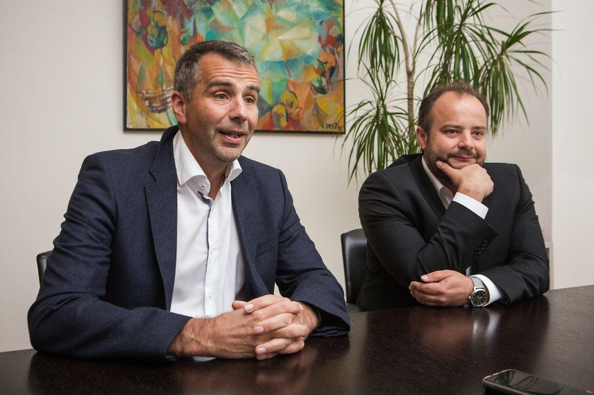 Pierrot Feiereisen (à gauche) se fait évincer par son frère Carlo à Schifflange.