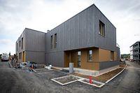 Seules les maisons seront ouvertes à la visite, les appartements nécessitant encore des travaux d'aménagement intérieur.
