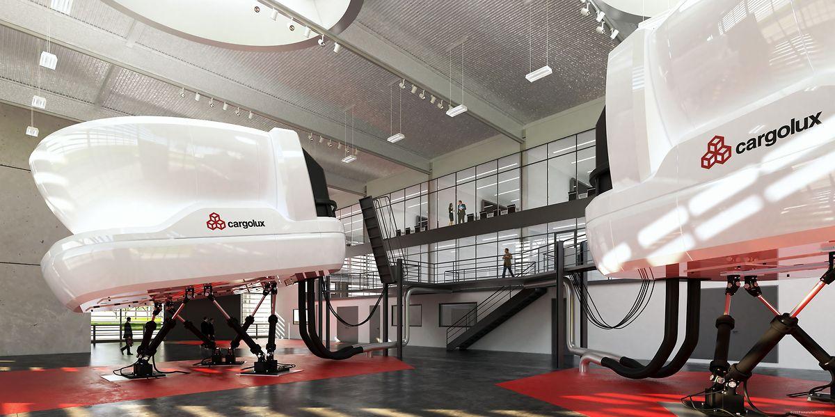 Les simulateurs de vol sur lesquels s'entraînent les pilotes de la compagnie de fret