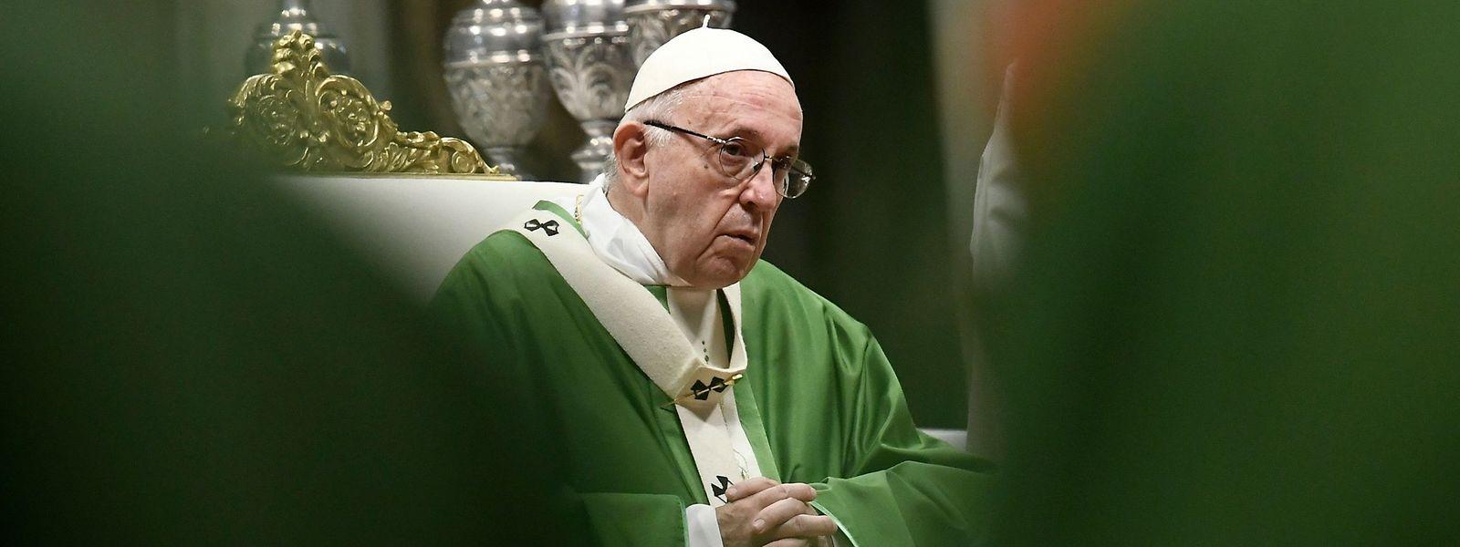 """""""Im Moment klagt man uns sehr heftig an"""", sagt Papst Franziskus."""