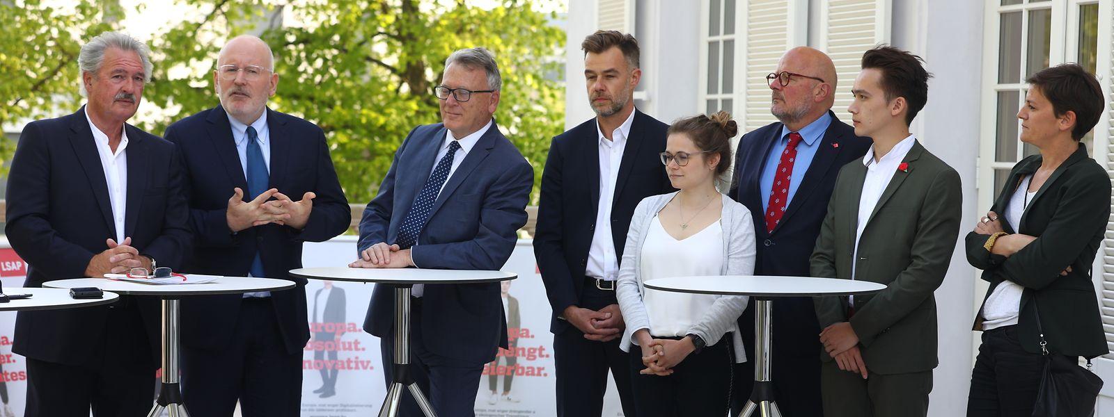 In Anwesenheit einiger LSAP-Kandidaten für die EU-Wahlen, von LSAP-Präsident Franz Fayot sowie dem luxemburgischen Chefdiplomaten Jean Asselborn stellte Frans Timmermans am Dienstag die Ideen der EU-Sozialdemokraten vor.