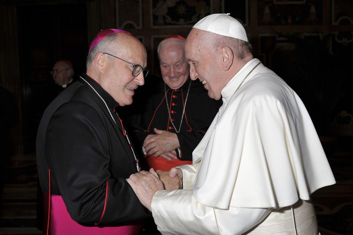 Leo Wagener aux côtés du pape François.