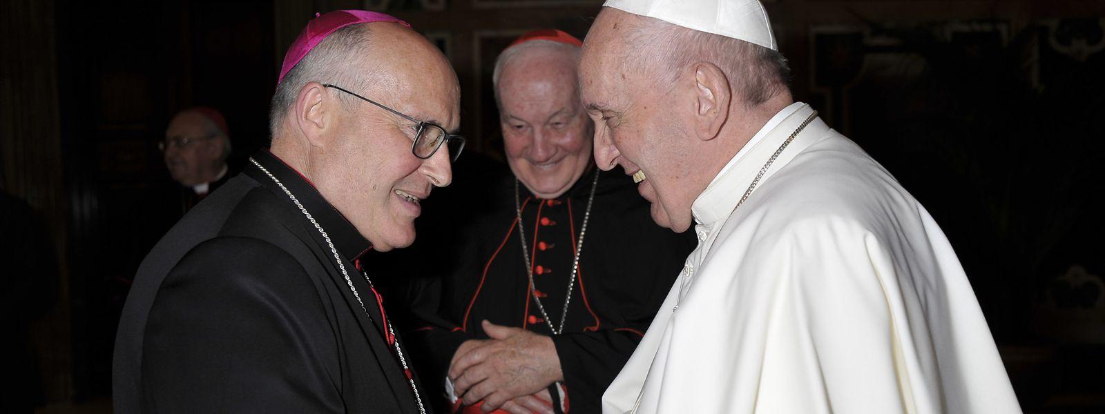 Leo Wagener (r.) bei Papst Franziskus