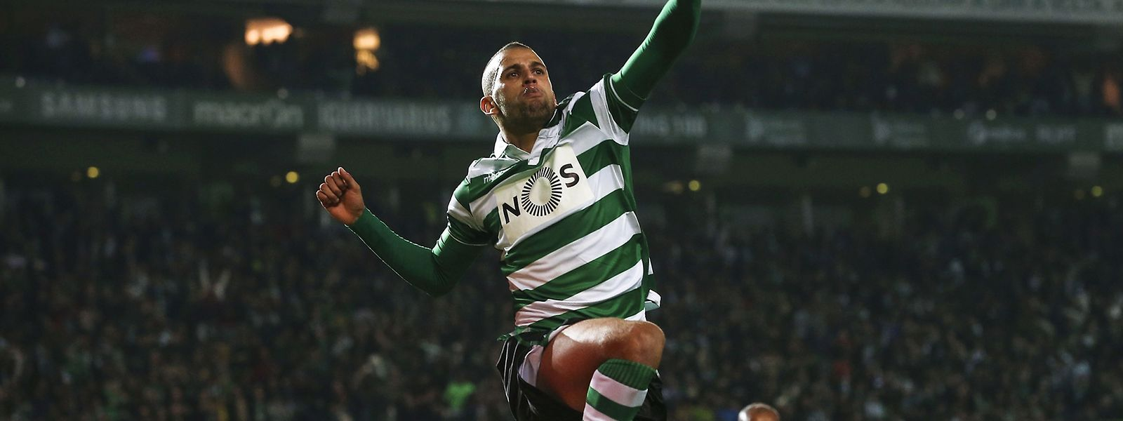 Islam Slimani foi o grande artifice da vitória leonina frente ao FC Porto