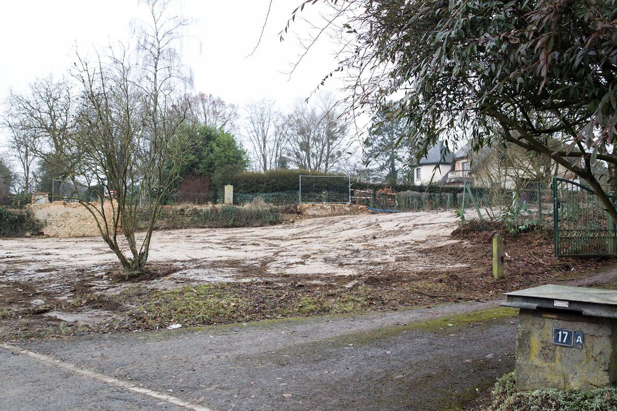Hier, entlang der Rue de Mersch in Keispelt, stand der Bauernhof der abgerissen wurde.