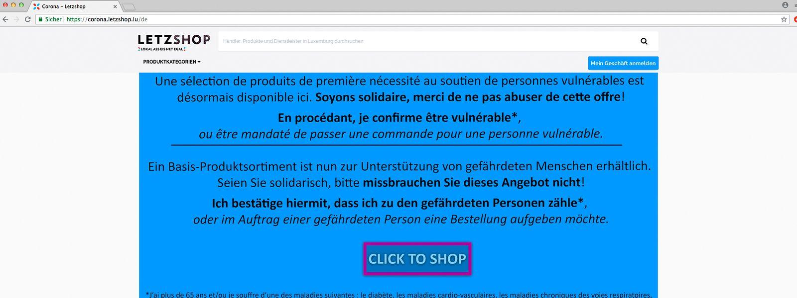 Auf der Online-Verkaufsplattform sind mehr als 40 Lebensmittel, Kosmetika und Pflegeprodukte aufgelistet.