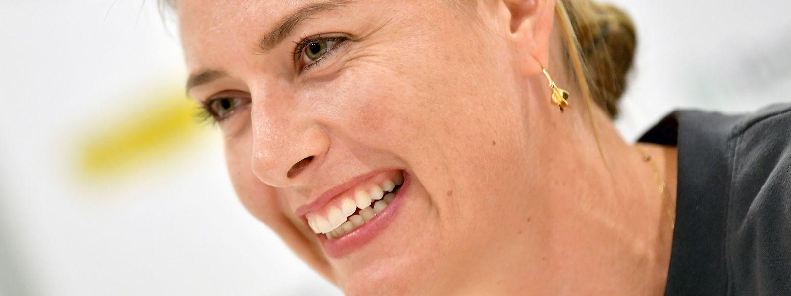 Maria Sharapova war am Dienstag in Linz zu Gast, aber nicht um Tennis zu spielen.