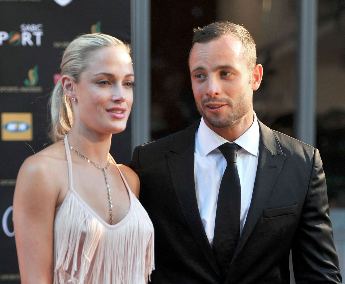 Ein Foto vom 4. November 2012. Pistorius mit Reeva Steenkamp bei den Feather Awards in Johannesburg.