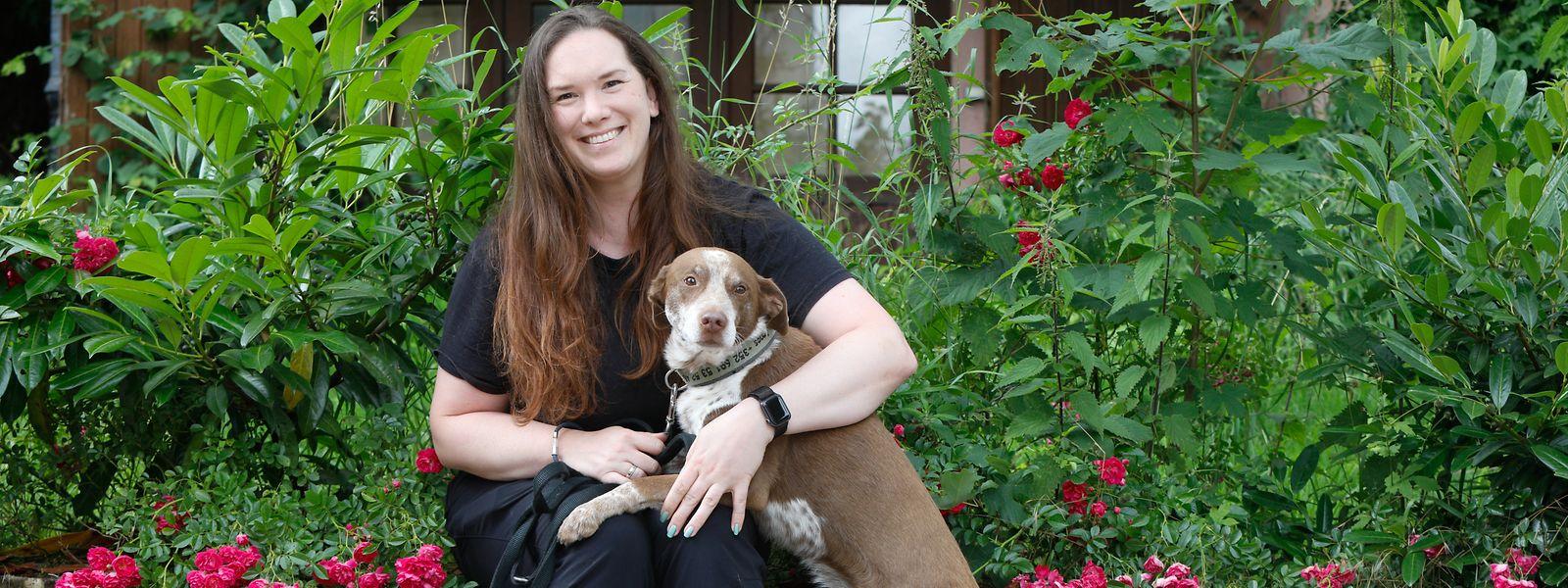 Die Präsidentin Tanja Forette mit ihrem Hund Argos.