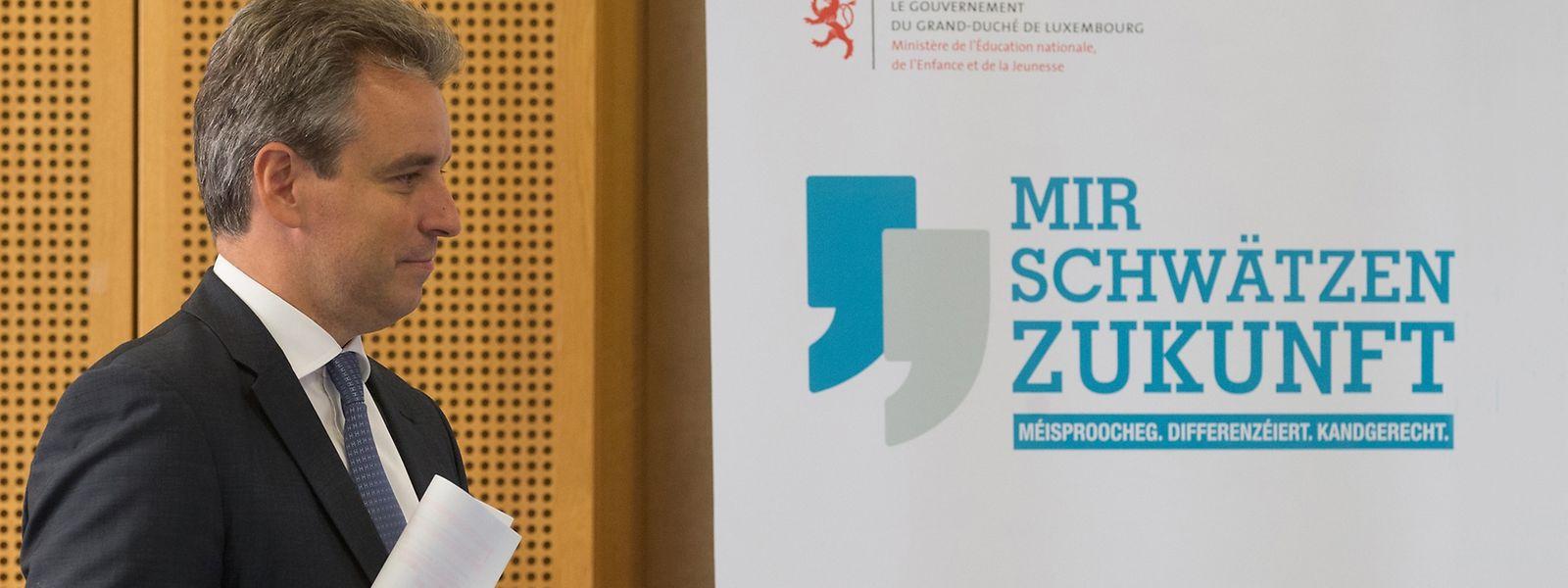 Bei der Rentrée-Pressekonferenz am Montag im hauptstädtischen Jongelycée stellte Claude Meisch seine Bildungspläne vor.