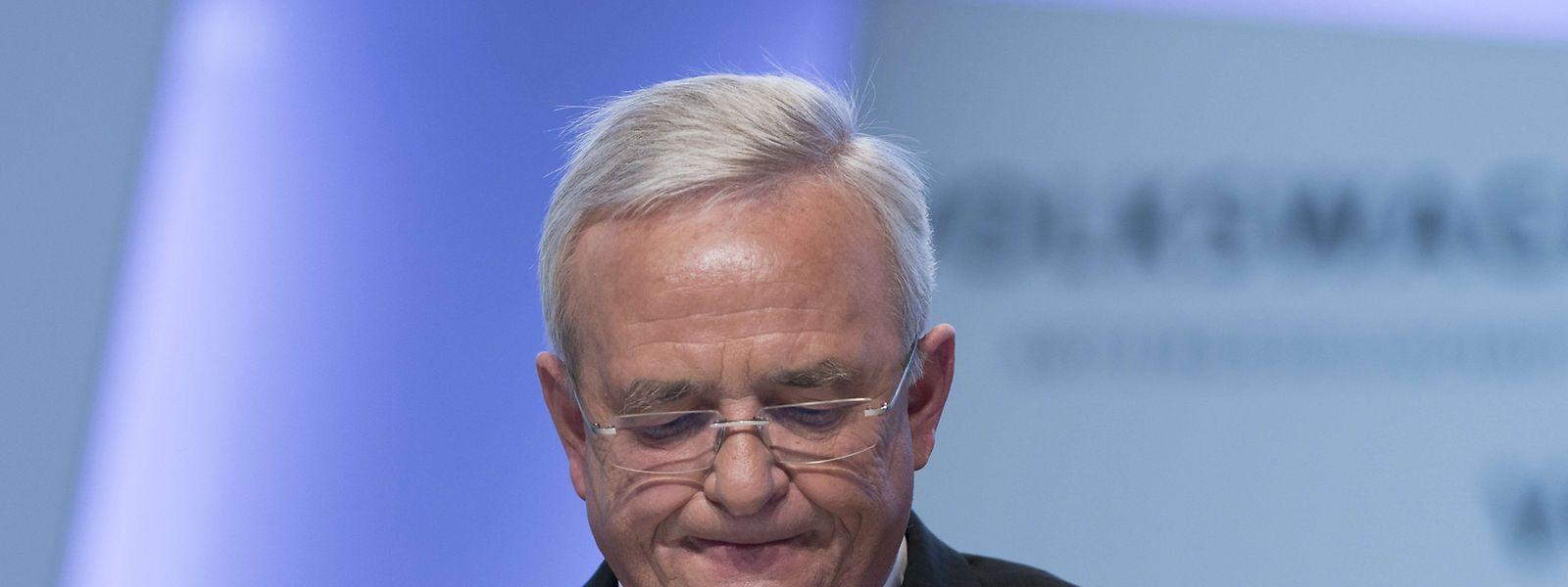 Am 23. September 2015 trat der VW-Konzernchef wegen des Diesel-Skandals zurück.