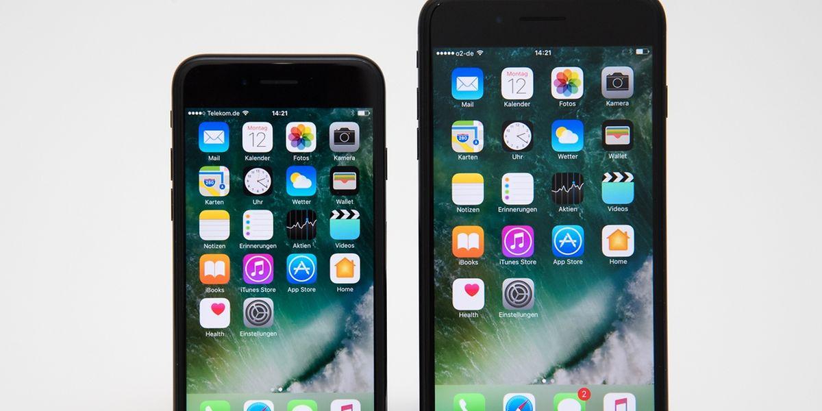Äußerlich sind die neuen iPhone 7 (l) und 7 Plus kaum von den Vorgängern zu unterscheiden.
