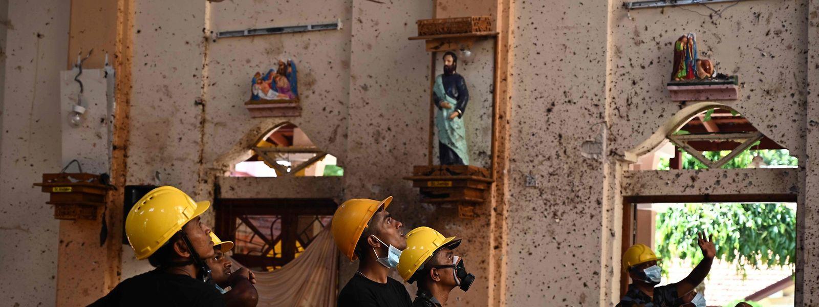 Nach den Attacken herrscht in Sri Lanka ein Bild der Verwüstung.