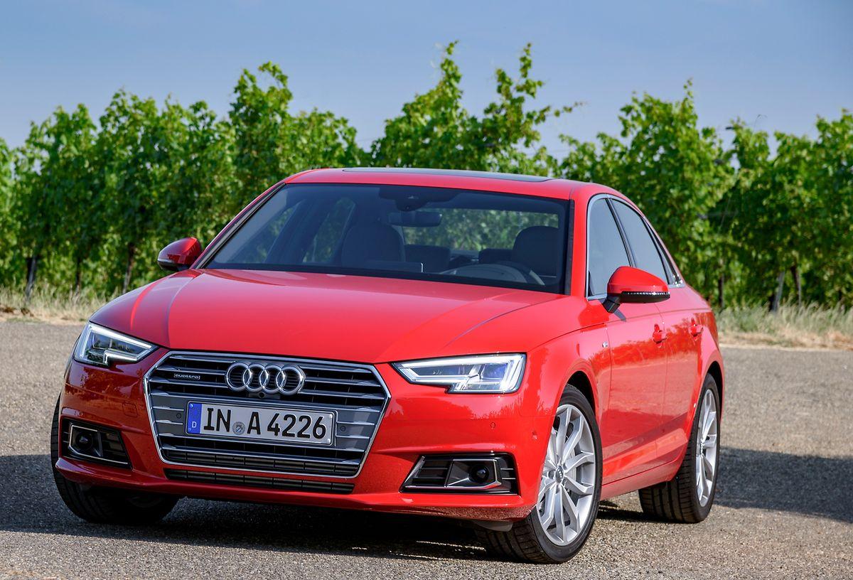 Der neue Audi A4 hat um bis zu 120 Kilo abgespeckt.