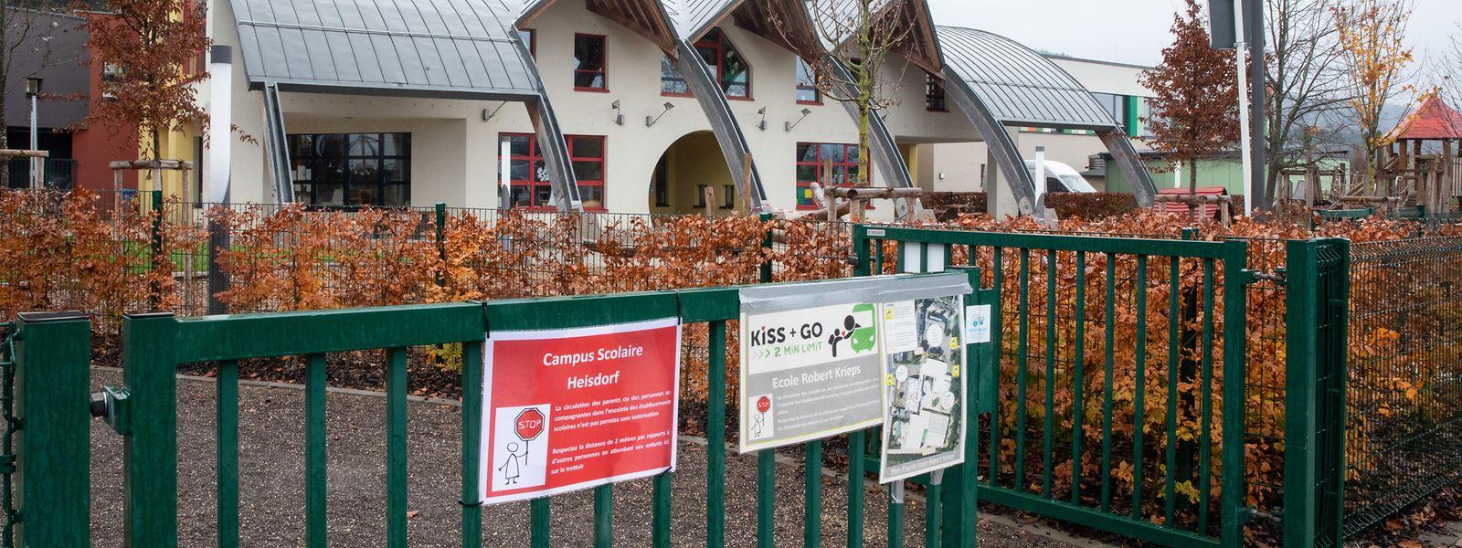 Unter anderem in der Schule in Heisdorf wurden Covid-Fälle festgestellt.