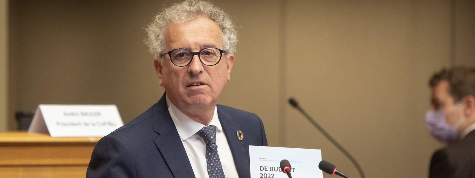"""""""Nur zwei Jahre nach der Krise sind die Staatsfinanzen quasi wieder im Gleichgewicht, ganz ohne Austeritätspolitik"""", freut sich Finanzminister Pierre Gramegna."""
