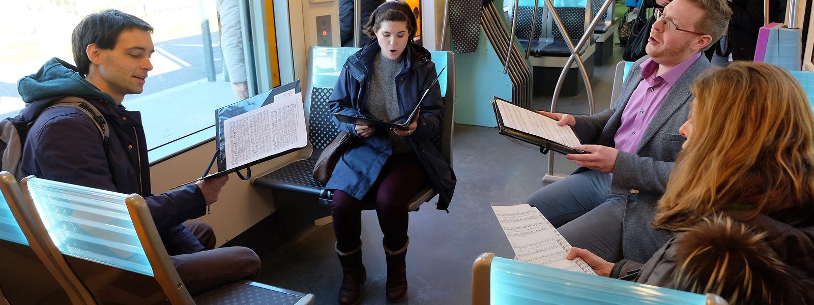 Faute de métro, au Luxembourg on chante dans le tram pour promouvoir les «Bach in the Subways».