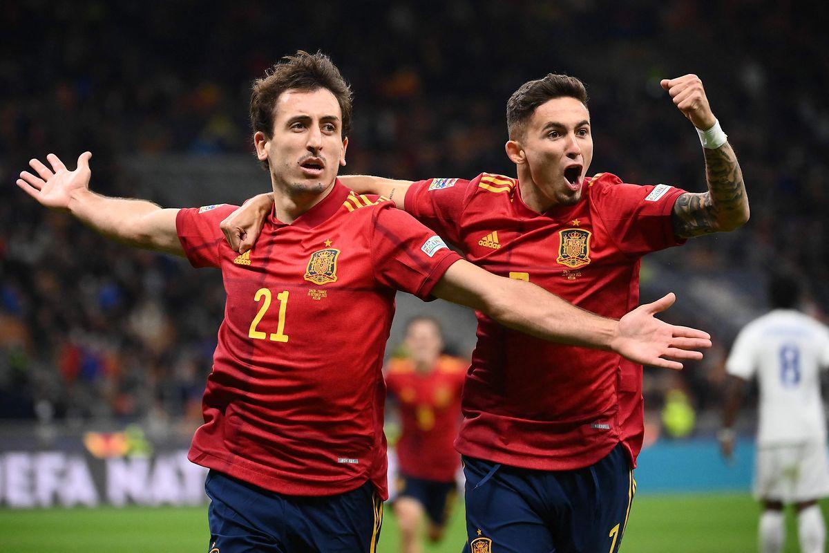 Spaniens Führung von Mikel Oyarzabal (21) hielt nur wenige Minuten.
