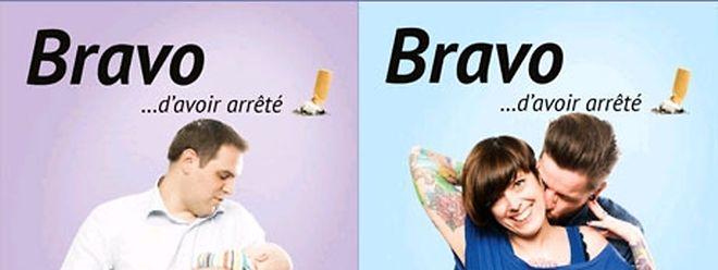 """Auf der Facebook-Seite """"Bravo...d'avoir arrëté"""" wird die Kampagne vorgestellt."""