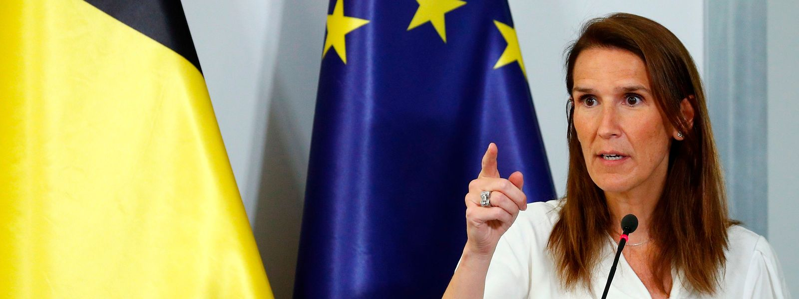 Sophie Wilmès a demandé aux Belges de la «patience et du courage».