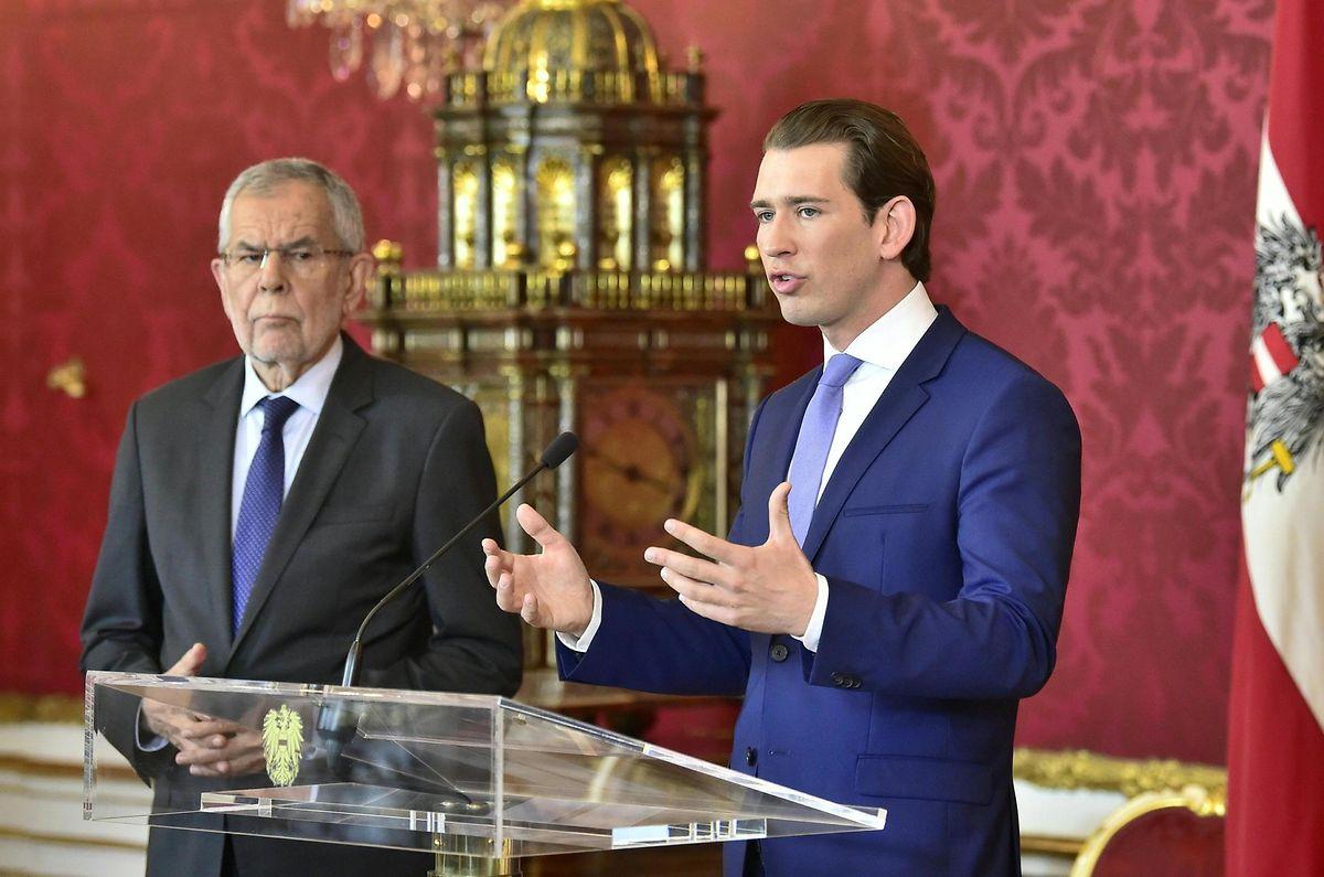 Der österreichische Bundespräsident Alexander Van der Bellen (l.) und Kanzler Sebastian Kurz. Van der Bellen fällt bei den Verhandlungen für eine Übergangsregierung eine wichtige Rolle zu.