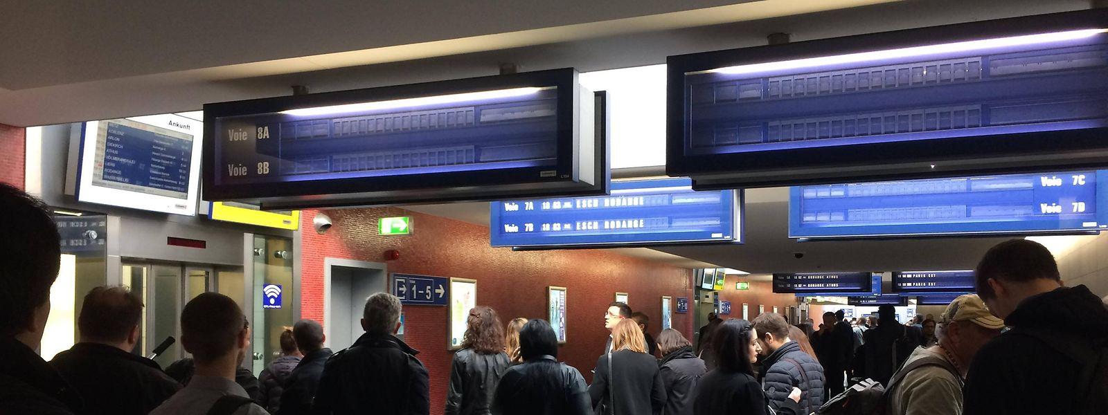Les voyageurs ne disposent que de très peu de trains entre Metz et Luxembourg depuis maintenant une semaine.