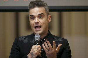 Robbie Williams stellte in London seine Tour vor.