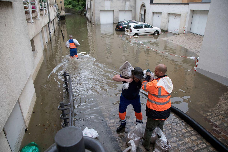 Überflutung im Pfaffenthal.