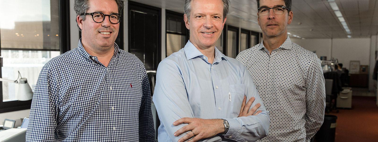 """Die neue Chefredaktion des """"Luxemburger Wort"""" (v.l.): Claude Feyereisen, Roland Arens (Chefredakteur), Marc Schlammes."""