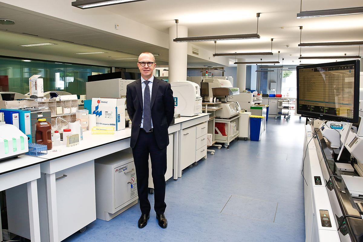 Jean-Luc Dourson im Labor von BioneXt Lab.