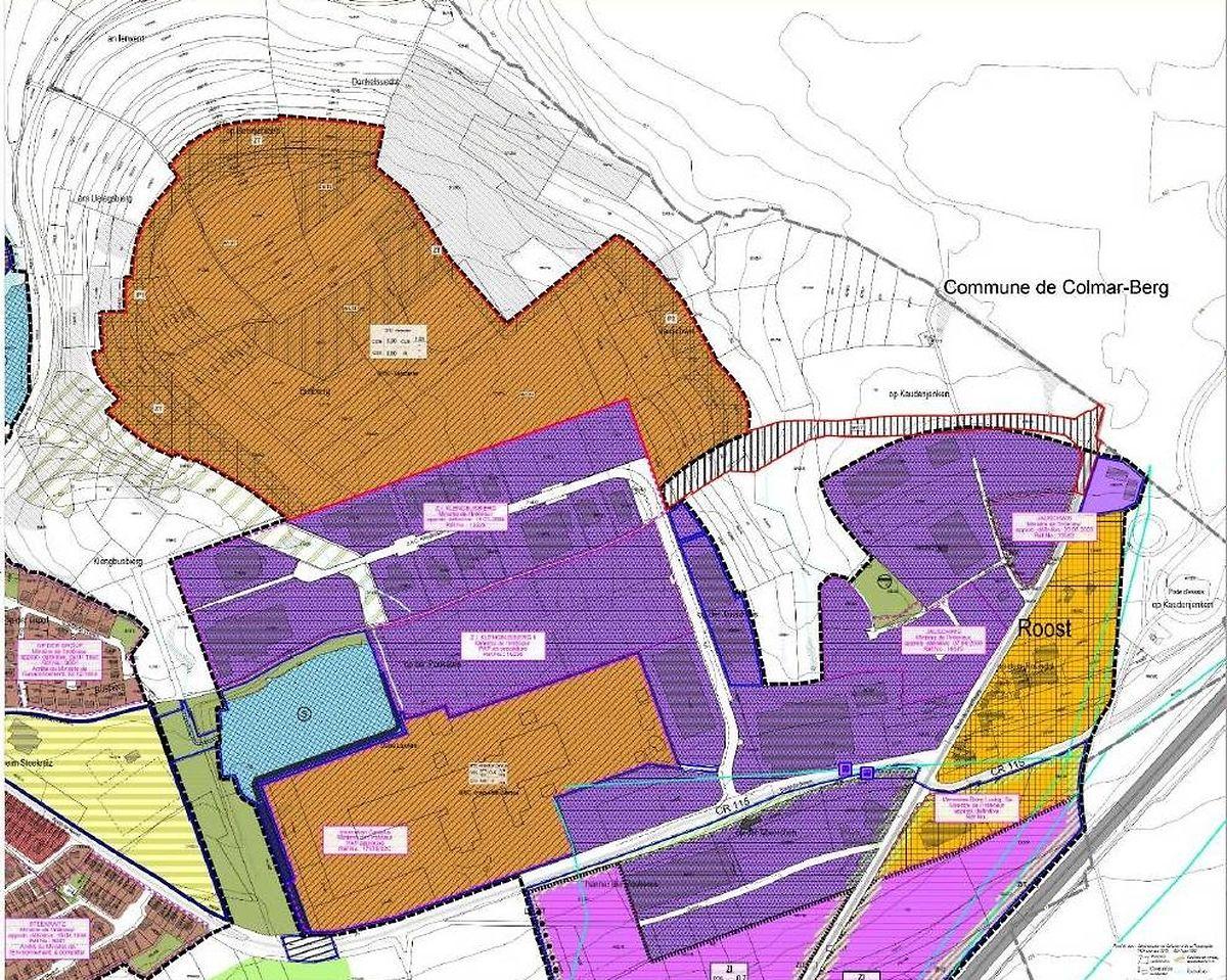 Le data center sera créé dans la parcelle brune en haut de ce plan.