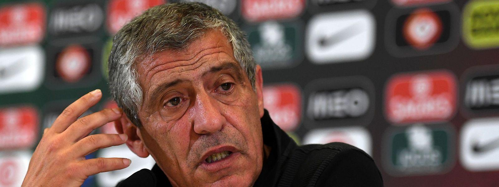 O seleccionador de Portugal, Fernando Santos.