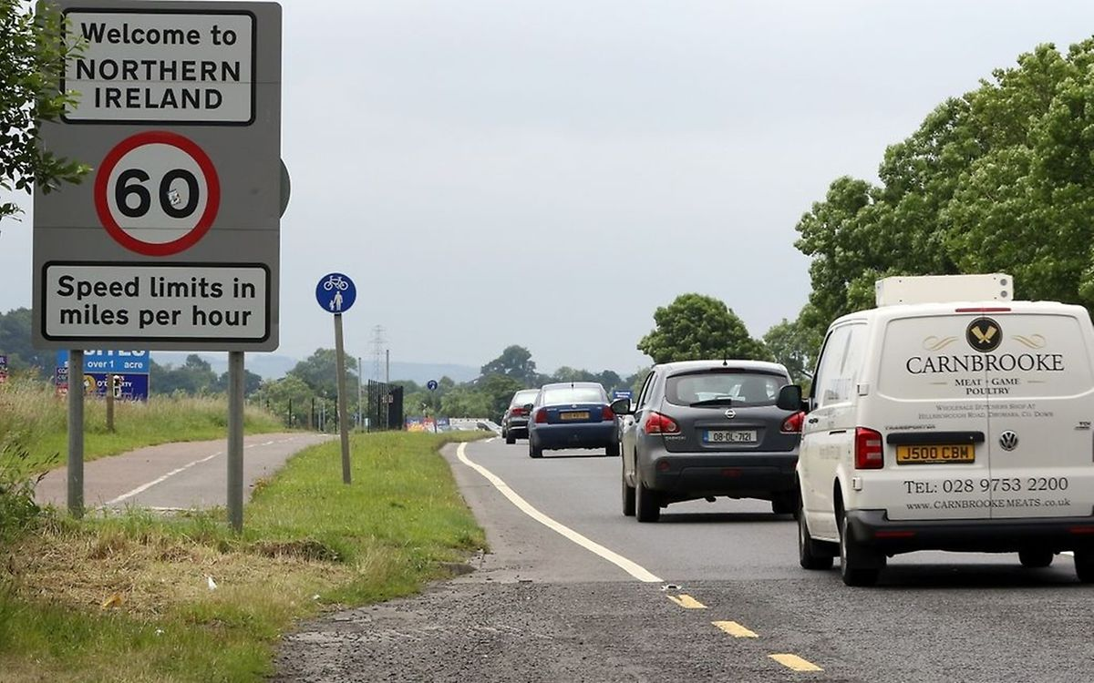 The border between the Republic of Ireland and Northern Ireland. (AFP)