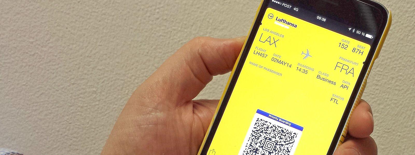 Bordkarte auf dem Smartphone: Leerer Akku kann ein Problem sein