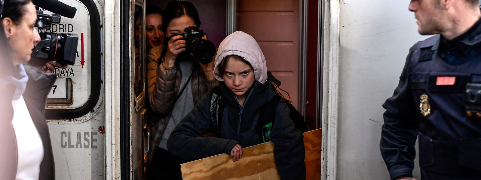 Greta Thunberg a rejoint la capitale espagnole ce vendredi matin.