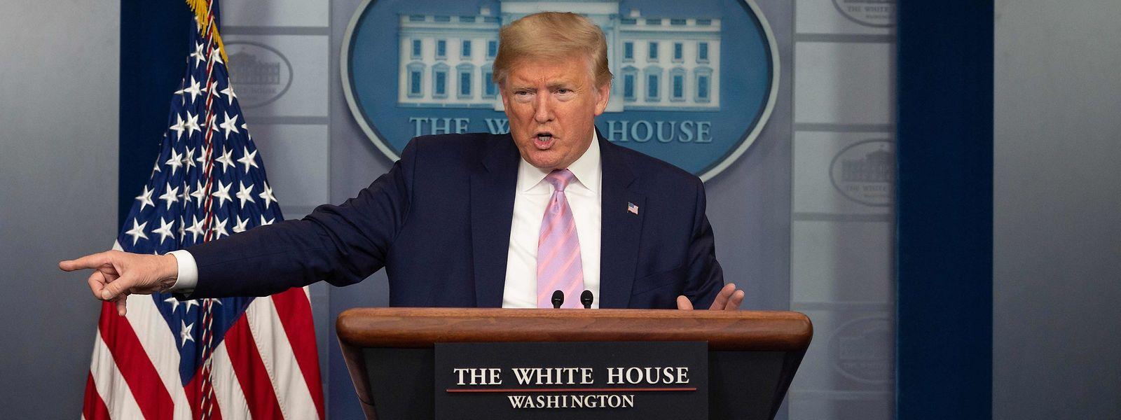 US-Präsident Donald Trump während einer Pressekonferenz am Samstag.