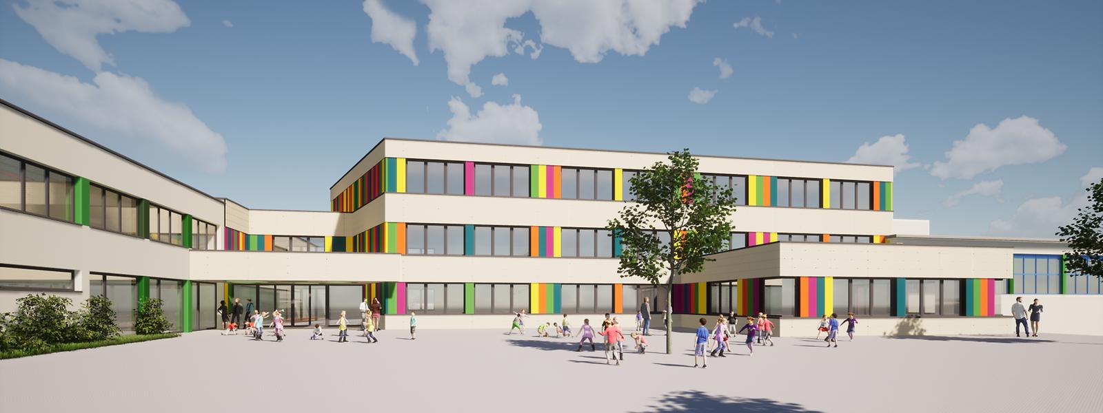 Der Neubau der An-Eigent-Schule.